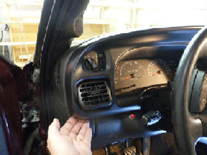 Removing Dodge Ram instrument bezel.