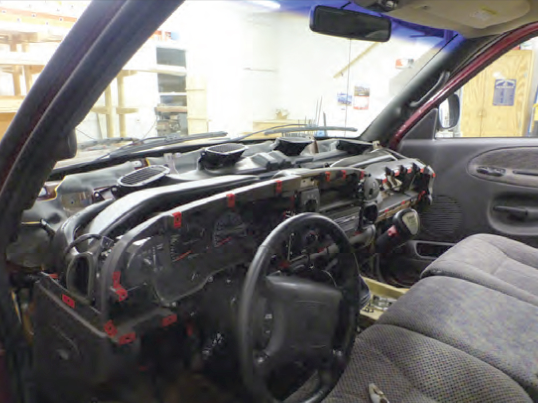 Dodge Ram dash installation