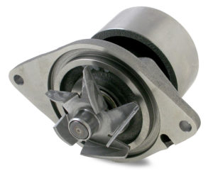 Cummins 3286278 water pump with open impeller.