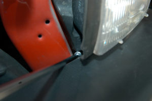 Dodge Ram headlight screws locations.