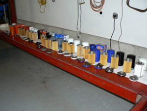 Dodge Cummins oil filter line-up.