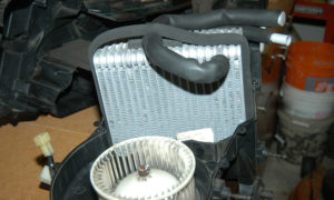 A/C evaporator installed.