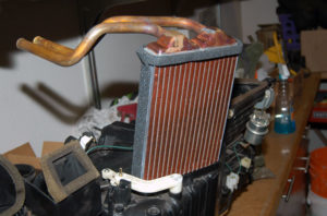 Dodge Ram heater core installed.