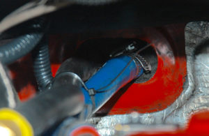 Coolant supply/return hoses are to be removed.