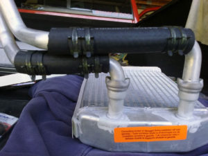 Dodge Ram AC condensor with swivels.