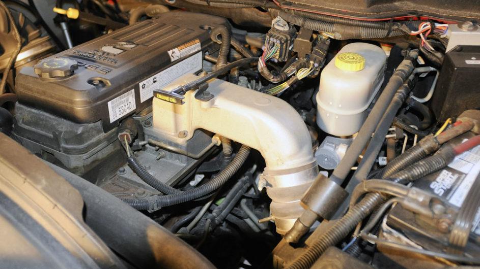 Ram Turbo diesel engine bay.