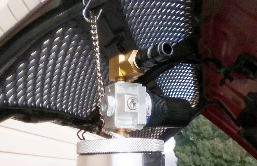 The SUR&R FIC203 canister uses shop or portable air.