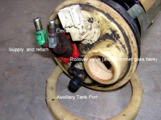 Fuel control module top details.