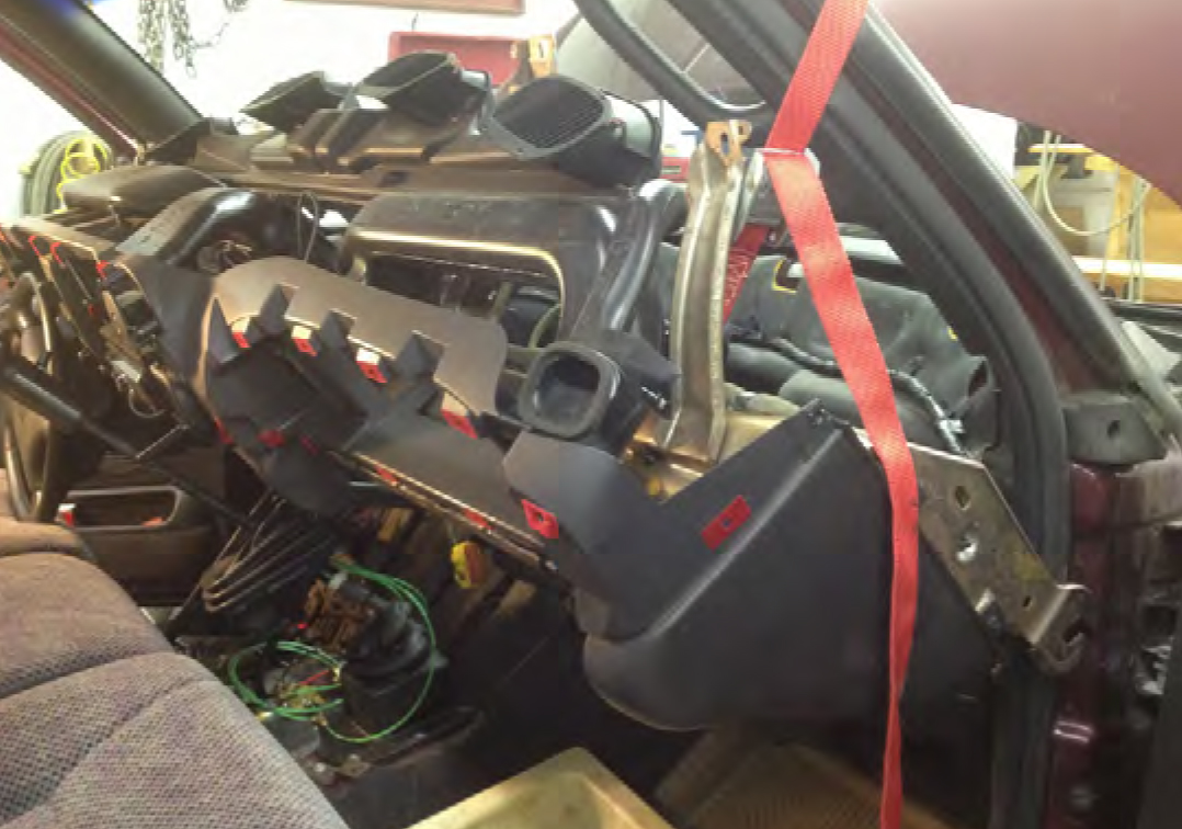 98 02 Dodge Ram Dash Installation Genos Garage D350 Wiring Harness Removal Passenger Side Support