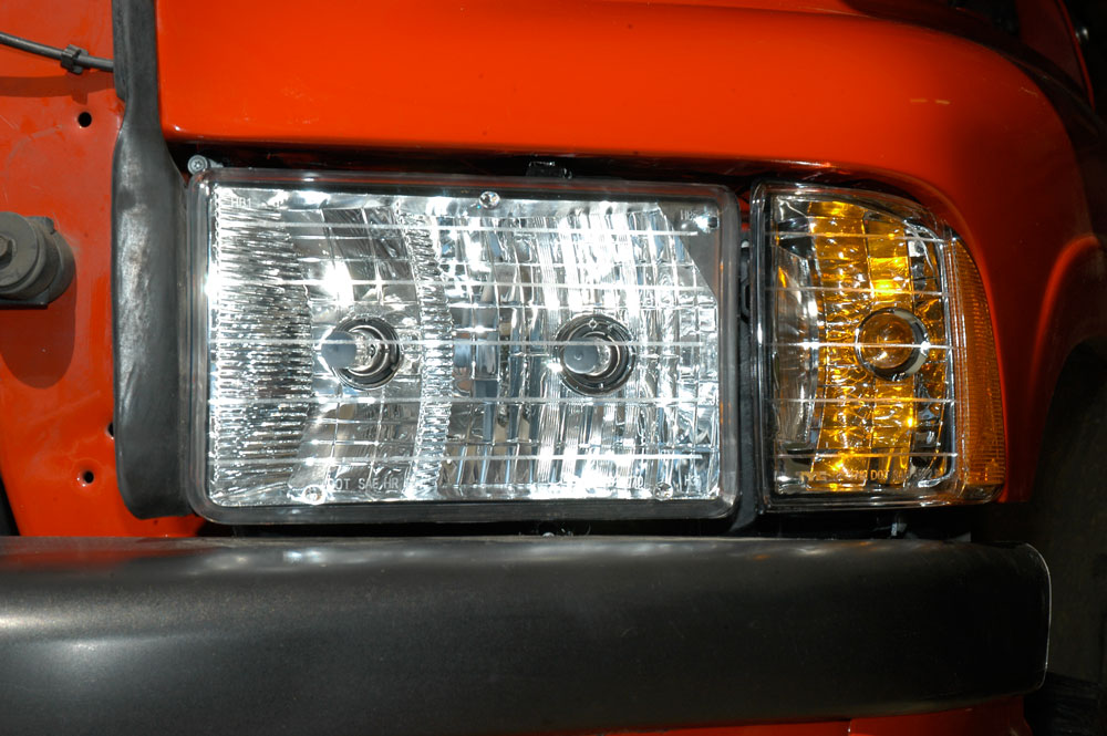 Dodge Ram Sport headlights installed.