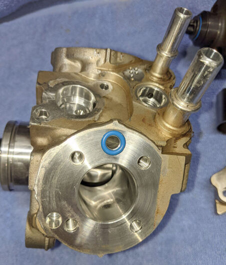 CP4 fuel injection pump cylinder show no scoring.